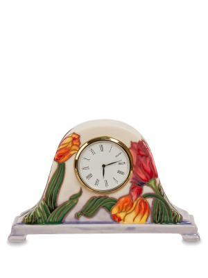 Часы настольные Pavone. Цвет: бежевый, зеленый, красный