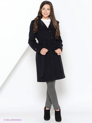 Пальто Electrastyle. Цвет: темно-синий