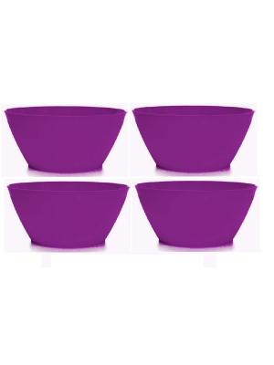 Комплект салатник круглая 2,5л -4 шт. Полимербыт. Цвет: фиолетовый