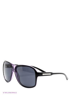 Солнцезащитные очки United Colors of Benetton. Цвет: черный, сиреневый