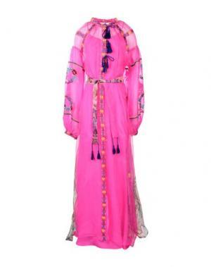 Длинное платье OTT. Цвет: фуксия
