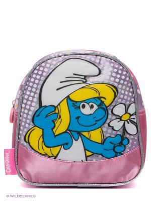 Рюкзак Love Смурфики. Цвет: синий, розовый, серый