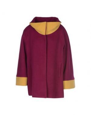 Пальто GUTTHA. Цвет: фиолетовый