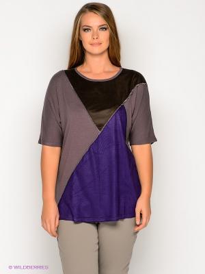 Туника МадаМ Т. Цвет: темно-бежевый, коричневый, фиолетовый