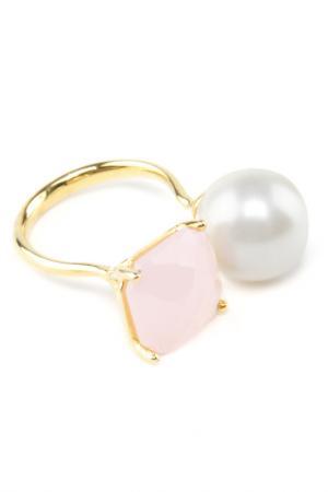 Кольцо Donna Lorena. Цвет: белый, розовый