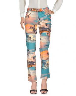 Повседневные брюки JEAN PAUL GAULTIER. Цвет: цвет морской волны