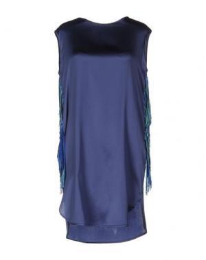 Короткое платье SHIRTAPORTER. Цвет: грифельно-синий