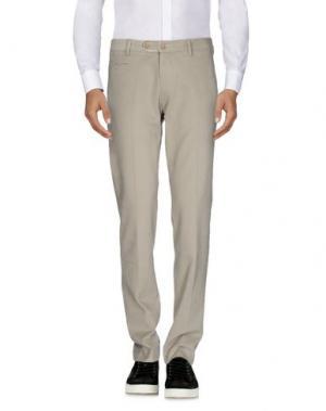 Повседневные брюки BERWICH. Цвет: серый