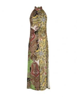 Длинное платье CARLA MONTANARINI. Цвет: зеленый-милитари