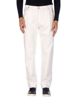 Джинсовые брюки NICWAVE. Цвет: слоновая кость