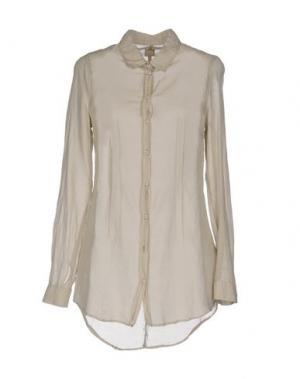 Pубашка 120% LINO. Цвет: бежевый
