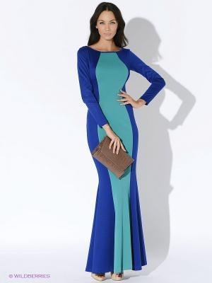Платье ARBOR VITAE. Цвет: синий, зеленый