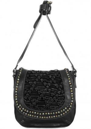Кожаная сумка через плечо Taschendieb. Цвет: черный