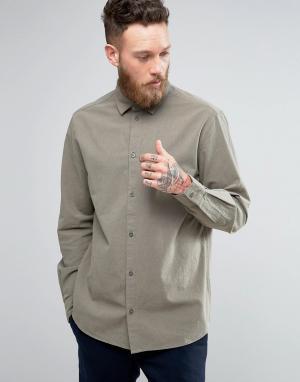 Weekday Структурированная рубашка Pablo. Цвет: зеленый