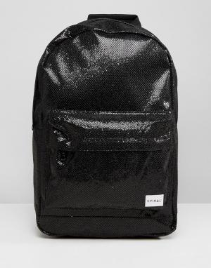 Spiral Черный рюкзак с блестками. Цвет: черный