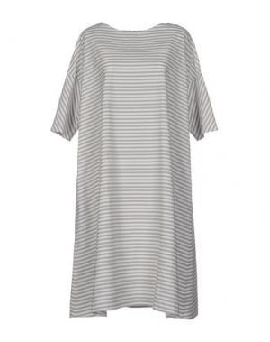 Платье до колена A.B APUNTOB. Цвет: светло-серый