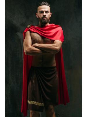 Костюм Геракла, Геркулеса, спартанца, римлянина, гладиатора La Mascarade. Цвет: коричневый, желтый, темно-красный