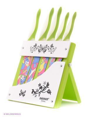 Комплект ножей Bekker. Цвет: зеленый
