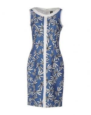 Платье до колена 1-ONE. Цвет: грифельно-синий