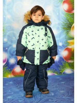Комплект для мальчика Little Boy. Цвет: темно-синий, салатовый