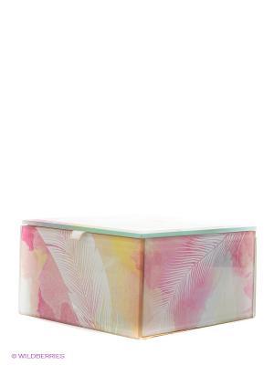 Стеклянная шкатулка для бижутерии квадратная Мизуйо Kimmidoll. Цвет: розовый