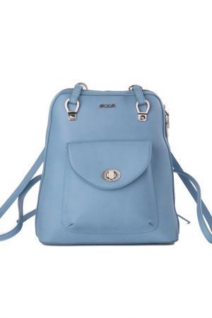 Сумка-рюкзак Pola. Цвет: голубой