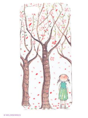 Чехол для IPhone 5 Цветущие яблони Mitya Veselkov. Цвет: белый, красный