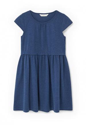 Платье Mango Kids. Цвет: синий