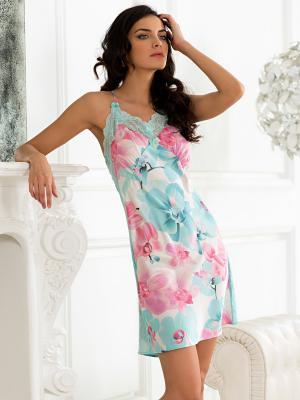 Ночная сорочка Mia Sofia. Цвет: бирюзовый, розовый