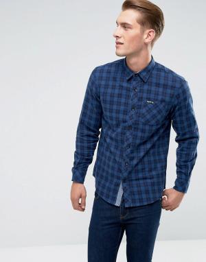 Tokyo Laundry Фланелевая рубашка в клетку. Цвет: синий