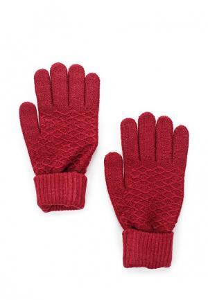Перчатки Modis. Цвет: бордовый