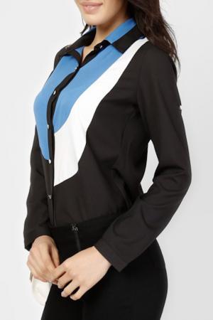 Блузка LESARA. Цвет: черный