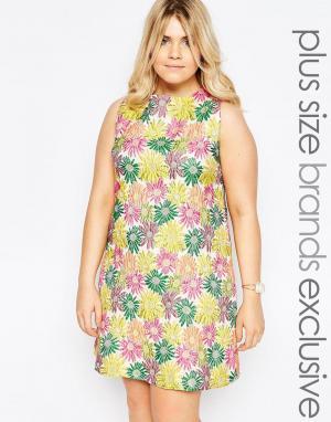 Truly You Цельнокройное платье с ярким цветочным принтом. Цвет: мульти