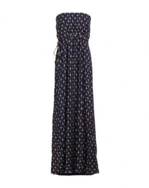 Длинное платье ANONYME DESIGNERS. Цвет: синий
