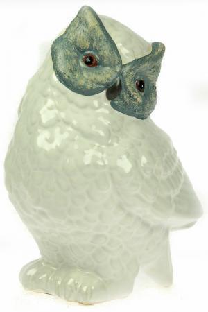 Статуэтка Сова Русские подарки. Цвет: белый