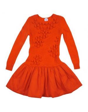 Платье PARROT. Цвет: красный