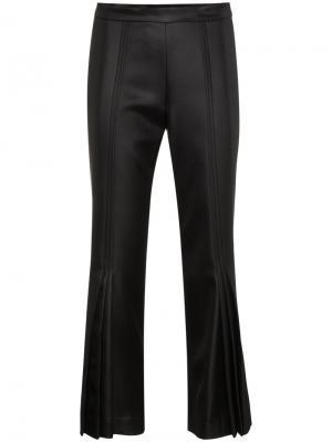 Укороченные расклешенные брюки Marco De Vincenzo. Цвет: чёрный