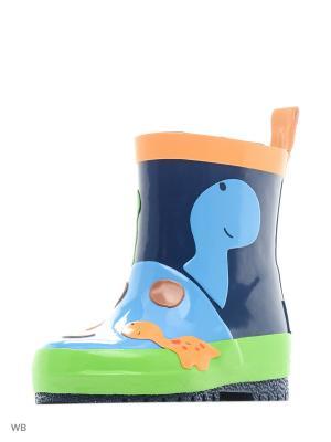 Резиновые сапоги MAXIMO. Цвет: синий, светло-зеленый, голубой