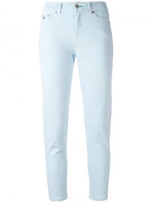 Укороченные джинсы с завышенной талией Tommy Jeans. Цвет: синий