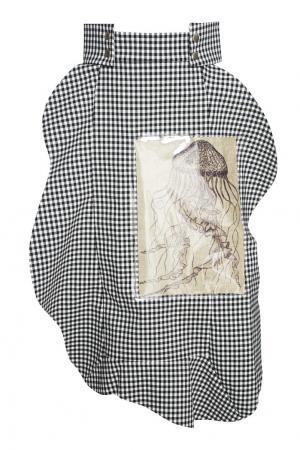 Хлопковая юбка Jellyfish A.W.A.K.E.. Цвет: черно-белый