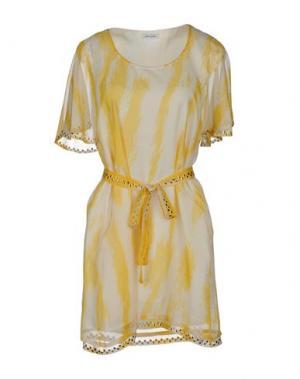 Короткое платье BEAYUKMUI. Цвет: слоновая кость