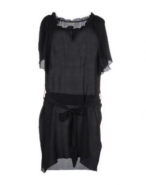 Короткое платье MARGIT BRANDT. Цвет: темно-синий