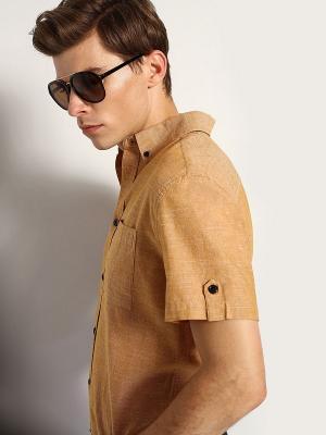 Рубашка Top Secret. Цвет: коричневый