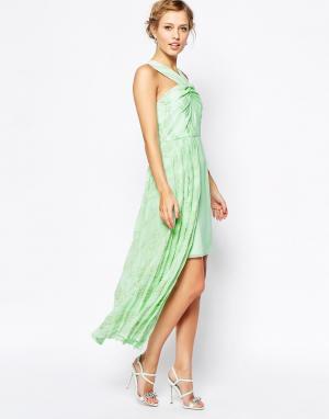 VLabel London Платье с асимметричным подолом Forest. Цвет: зеленый