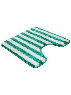 Коврик для ванной 50х50см bm-mf-d5/2-1 Cite Marilou. Цвет: белый, зеленый