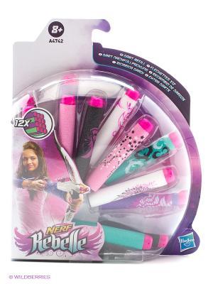 Комплект из 12 стрел Hasbro. Цвет: розовый, золотистый, белый, голубой, фиолетовый
