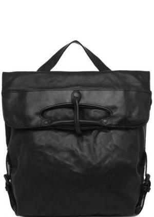 Черная кожаная сумка-рюкзак aunts & uncles. Цвет: черный