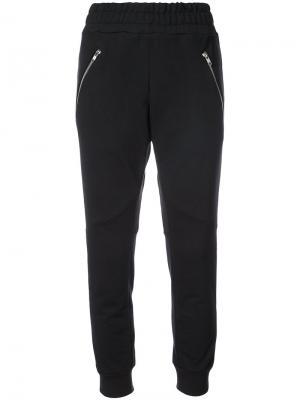 Zip pocket track pants Baja East. Цвет: чёрный