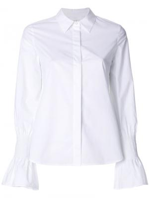 Рубашка с расклешенными манжетами A.L.C.. Цвет: белый