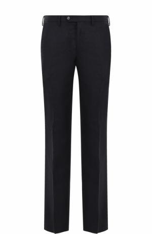 Шерстяные брюки прямого кроя Germano. Цвет: темно-синий